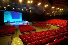 A view of the main auditorium at Teford International Centre